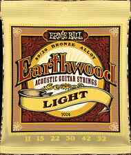 Ernie Ball Earthwood acoustic gitar Strings Light Guitar Strings for Acoustic