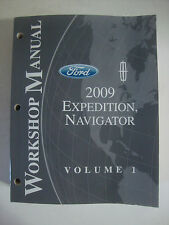 2009 Ford Workshop Manual Expedition Navigator Volume 1 Vehicle Repair Book