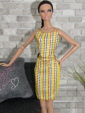 "MATTEL FITTED METALLIC POLK A DOT EVENING DRESS ""ONLY"" FOR/FITS BARBIE DOLL"