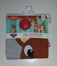 Ladies Cami & Panty Set Rudolph's Red Nosed Reindeer Holiday Underwear Set NEW