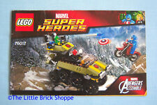 Lego Marvel Super Heroes 76017 Captain America vs. Hydra - INSTRUCTIONS ONLY