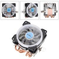 WISENOVO Push-down 4 Heat Pipes 12V 3Pin CPU Cooling Fan RGB Colorful Lights LJ