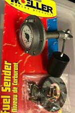 "GAS MARINE FUEL GAUGE SENDER 8"" BOAT MOELLER 114 03575110 WITH GAUGE ON TOP"