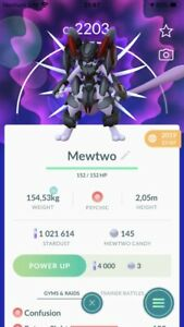 Armored Mewtwo Pokemon Trade Go LV25 Pokémon PVP Ultra League Read Description