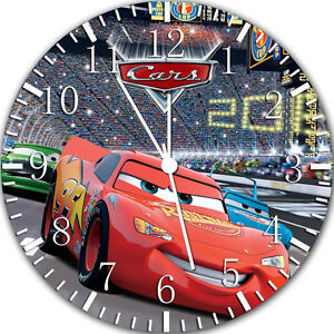 """Disney Cars Mcqueen wall Clock 10"""" will be nice Gift and Room wall Decor Y106"""