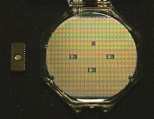 "Vintage 4"" Silicon wafer - National Semiconductor 2716 in case + packaged chip"