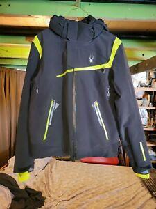 Spyder Men's Ski Jacket Legend Alps Jacket Black/Neon Size M