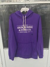 $ 68 abercrombie fitch Mens The A&F Heritage Hoodie Purple SIZE L