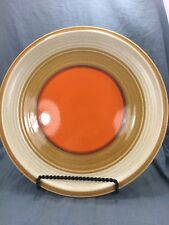 Vintage Mikasa Nature's Song Persimmon Round Chop Plate Platter Orange Brown
