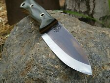 KRF 0-1 Custom Bushcraft /Survival /Camping/ Knife O.D Green USA Made