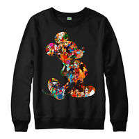 Mickey Mouse Christmas Jumper All Characters Festive Gift Adults Kids Jumper Top