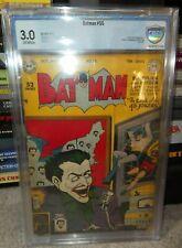 DC Comics Batman golden age CBCS 3.0  55 Joker cover and appearance cgc