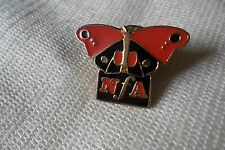 RARE NFA charity red admiral? butterfly pin lapel badge, free u.k. p&p