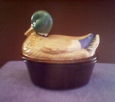 Vintage Large Duck Canister/Server New Awesome!