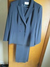 Kasper Double Breasted Size 18 Slate Suit
