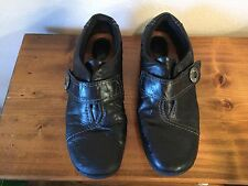CLARKS ARTISAN Leather Shoes Black Sz 9M Women Girl GREAT SHAPE Gently Worn
