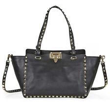Valentino Rockstud Small Leather Tote - Black