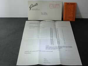 Vintage 1963 San Francisco Giants Baseball Schedule + Ticket Request