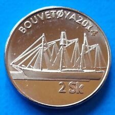 Bouvet Island 2 Skilling 2014 UNC Sailing Ship Bouvetøya unusual coinage