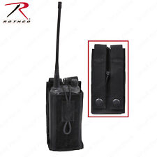 """Rothco MOLLE Compatible Universal Radio Pouch in Black (5"""" x 2¾"""" x 1"""")"""