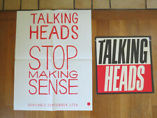 Vintage Talking Heads Stop Making Sense Album Release Advertising Poster lp flat