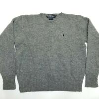 Polo Ralph Lauren Lambs Wool Pullover Sweater - Gray - Large SHORT