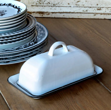 Enamelware Butter Dish w/ Cover