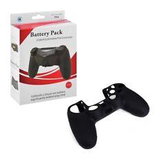 Akku Pack Zusatzakku 1000mAh + Silikonhülle für PS4 Controller PS 4 Powerbank