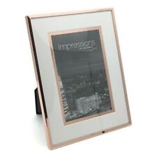 "Beautiful Copper Plated Border Photo Frame With Inset 6"" x 8"" FS76068"