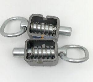 """SL58W (2) 5/8"""" Steel Weld Spring Latch Utility Trailer Gate Door Ramp HeavyDuty"""
