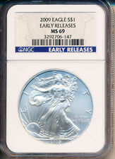 2009 American Silver Eagle - NGC MS69 Early Releases - BEST PRICE ON EBAY