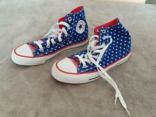 CONVERSE UNISEX STARS AND STRIPES HI TOP ALL STAR TRAINERS - SIZE 4