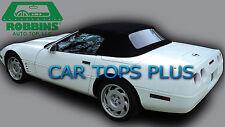 "86-93 C4 Corvette Convertible Top & Plastic Wndw ""Robbins"" Black Stayfast Cloth"