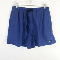 Vintage 90's Columbia Baggies Shorts Womens Size XL Blue Belted Active Hiking
