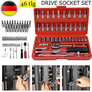 46 tlg Außen Torx Nüsse Steckschlüssel Satz Nusssätze knarrenkasten Werkzeug Set