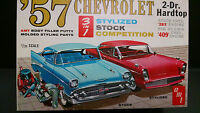Vintage AMT 1957 Chevrolet 2 Door Hardtop Model Built Kit #T-757-200 1:25 w/Box