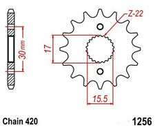 KR Ritzel 14Z Teilung 420 HONDA CR 80 R/ USA 86-02  New... front sprocket