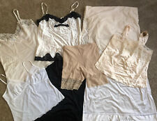 Vintage Half Slips Camisoles Shaper Lingerie Lace Large And X-large Lot Of 8