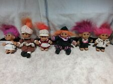 """6 VINTAGE TROLLS/DOLLS 3"""", 4"""" & 5"""" VERY GOOD PRE-OWNED CONDITION - SMOKE FREE"""