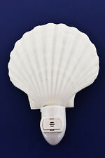 Real Seashell Night Light White Scallop Shell Beach Decor Nautical - Automatic.