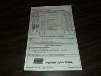 APRIL 1973 PENN CENTRAL FORM 6 CHICAGO-GARY/VALPARAISO, INDIANA PUBLIC TIMETABLE