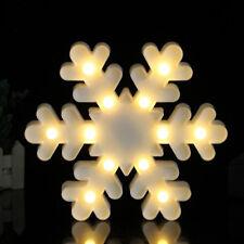 LED Lamp Christmas Snowflake Night Light Kids Baby Bedroom Home Decor Xmas Gift