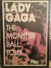 Lady Gaga- The Monster Ball Tour 2011- Professionally Framed Poster & Ticket