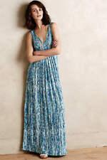TART Collections 'Adrianna' Sz L - Cliona Aqua Blue Print Maxi Dress NWT