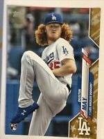 2020 Topps Series 1 DUSTIN MAY RC RARE GOLD STAR PARALLEL # 235 Dodgers Rookie