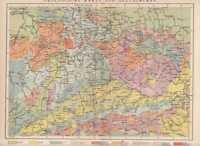 Geologische Karte von Deutschland Original von 1904