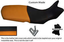 ORANGE AND BLACK CUSTOM FITS BMW F 650 GS 08-12 REAL LEATHER SEAT COVER