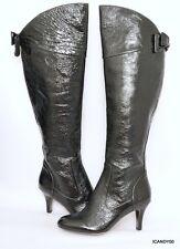 Isola ODALIA Crinkle Leather Over The Knee High Boot Heel Shoe Black 6 New