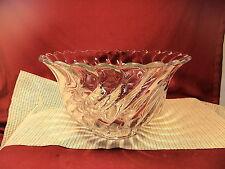 "Vintage Fostoria Crystal Colony Pat.  Nice Heavy Punch Bowl 13 3/4"" W x 7 7/8"" T"