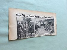 m4-9 ephemera 1918 picture ww1 h m s vindictive hindenberg visit